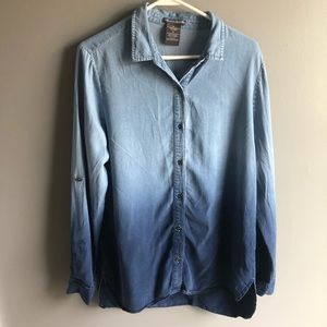 Chelsea & Theodore Chambray Ombré Top